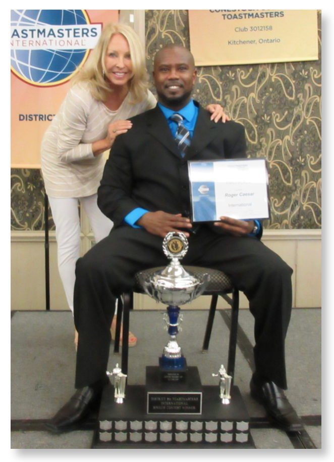 Roger Caesar, Toastmasters International Speech Contest Winner, 2015